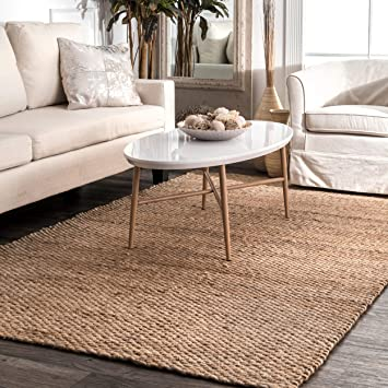 Amazon.com: nuLOOM Hailey Handwoven Jute Rug, 6' x 9', Natural .