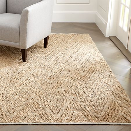Toler Natural Chevron Jute Rug | Crate and Barr