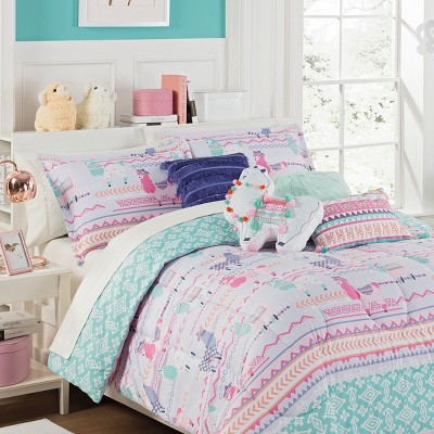 La La Llama Reversible Comforter Sets - Waverly Kids : Targ