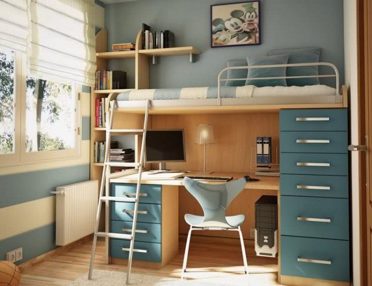 20 Cool Bunk Bed With Desk Desig