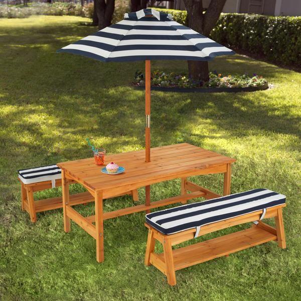 kid kraft outdoor table and umbrella set, kids outdoor furniture .