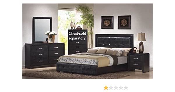 Amazon.com: Coaster Home Furnishings 4pc King Size Bedroom Set in .