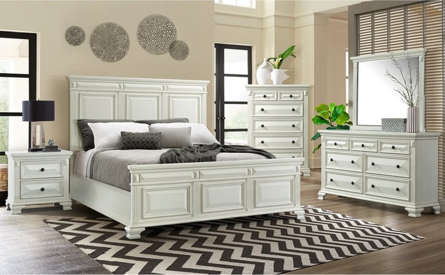 Elements Calloway - 6pc King Bedroom Set - White - PKBCY700-6K .