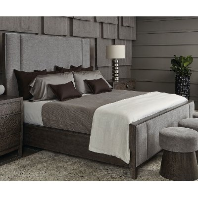 Rustic Modern Charcoal 4 Piece King Bedroom Set - Linea | RC .