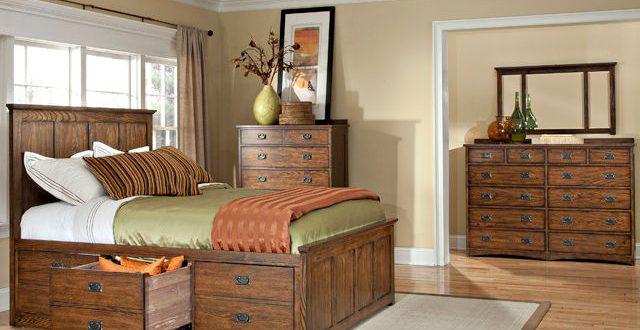 Oak Park King Storage Bedroom Set | The Furniture Ma