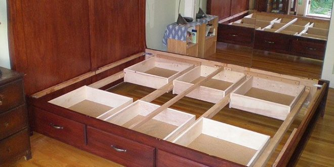 diy king size beds with storage under | Donaldo Osorio .