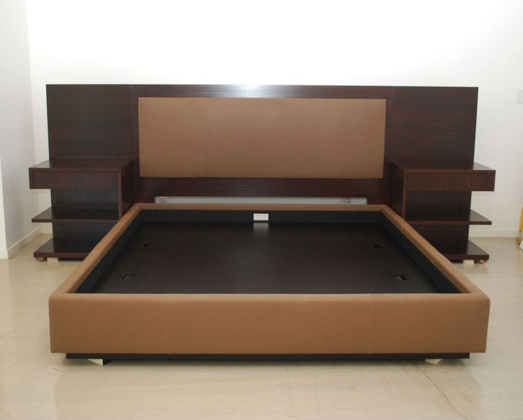 Modern King Platform Bed Frame Built In Side Table And Height .