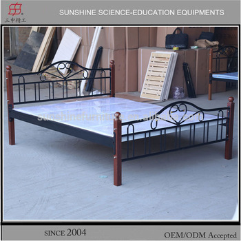 Latest metal bed designs powder coated steel bed king size bed .