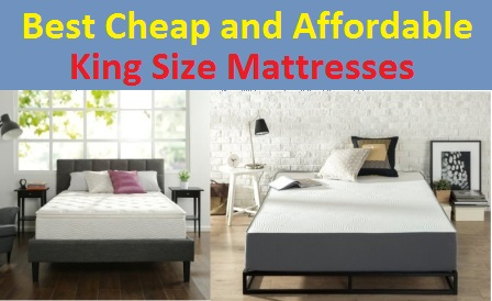 Top 15 Best Cheap and Affordable King Size Mattresses in 20