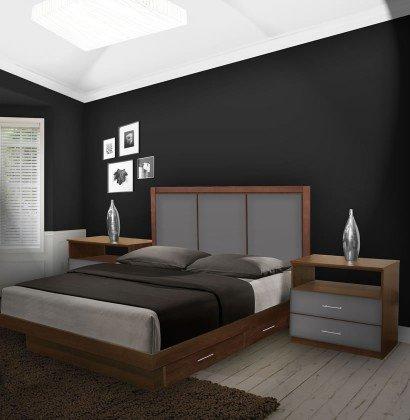 Monte Carlo King Size Bedroom Set w Storage Platform | Contempo Spa