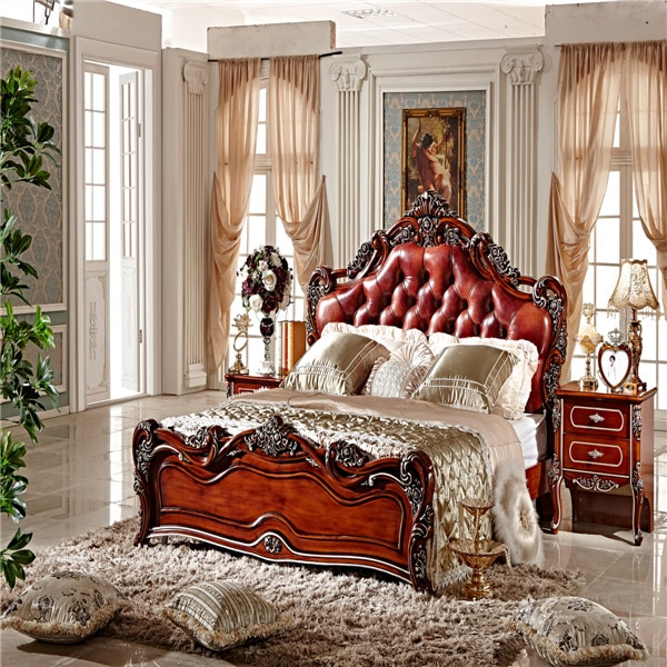 Classic King Size Bedroom Set/ European Style Hotel Furniture .