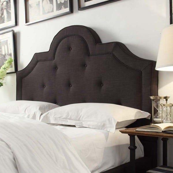 Shop Harper Tufted High-arching Linen Upholstered King-size .