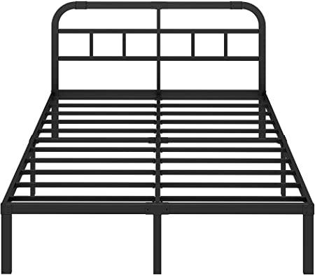 Amazon.com: ZIYOO King Size Bed Frame with Headboard, 3000LBS .