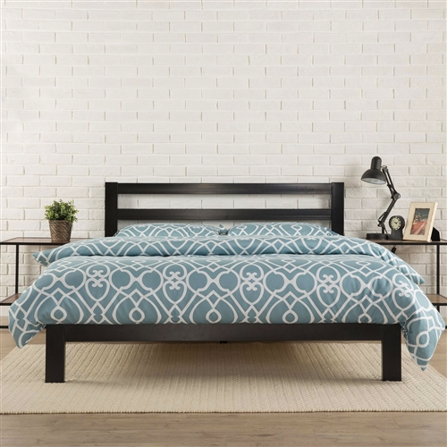 King size Heavy Duty Metal Platform Bed Frame with Headboard and .