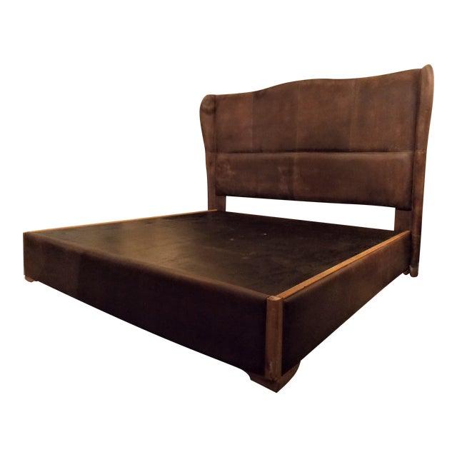Dax King Size Leather Platform Bedframe by Taracea   Chairi