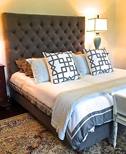 Amazon.com: Velvet Diamond Tufted Headboard and Upholstered Bed .