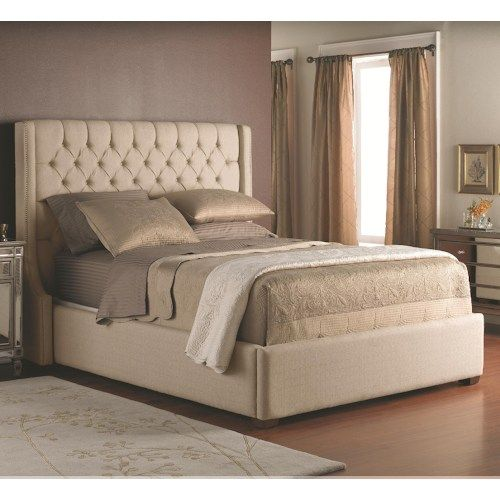 Decor-Rest Beds - King Size Upholstered Headboard with Button .