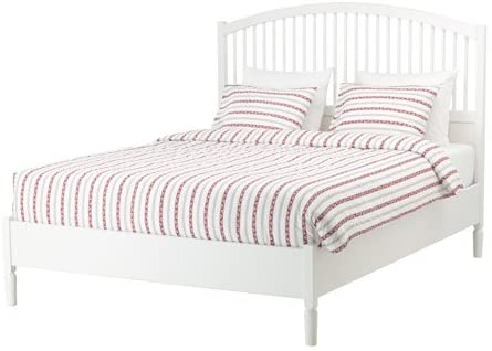Amazon.com: Ikea Bed frame, white, King size Luroy 2382.172329 .