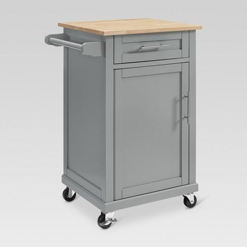 Carey Small Kitchen Cart Gray - Threshold™ : Targ