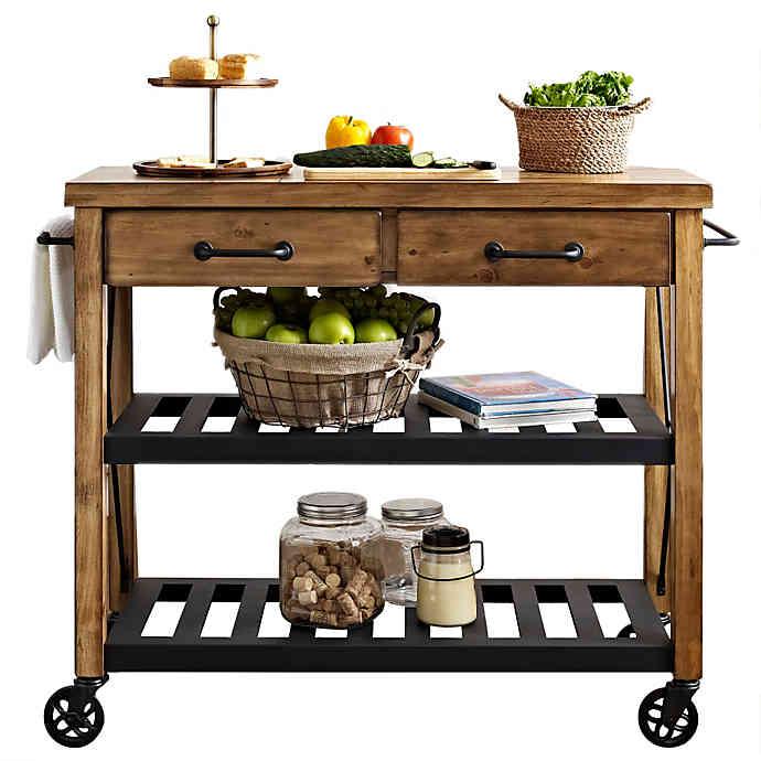 Crosley Roots Rolling Rack Industrial Kitchen Cart | Bed Bath & Beyo