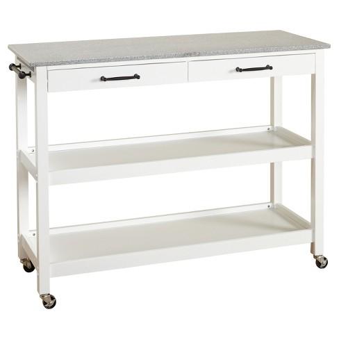 Arlington Kitchen Cart - White - Angelo:Home : Targ