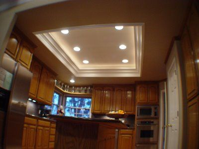 Decorative Recessed Lighting. I like the rope lights that add .