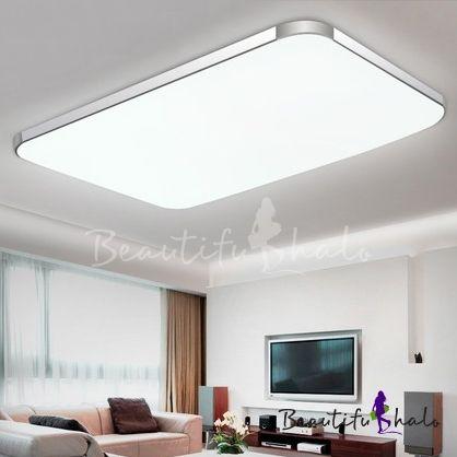 Aluminum Rectangle Flush Mount Light Contemporary LED Ceiling Flus .