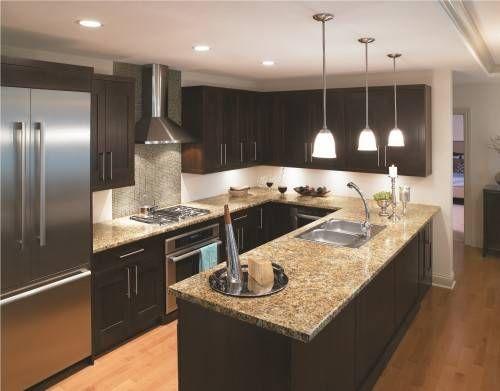 U Shaped Kitchen Designs Without Island | Small u shaped kitchens .