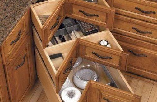 How to DIY Corner Kitchen Drawers | Corner drawers, Home .