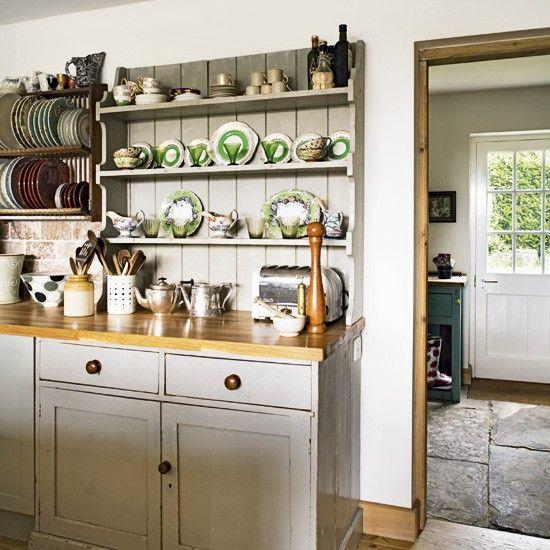 Country kitchen dresser | Country kitchen, Country chic kitchen .