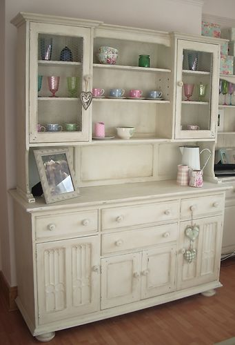Shabby Chic Kitchen Dresser Painted in Old White | Shabby chic .