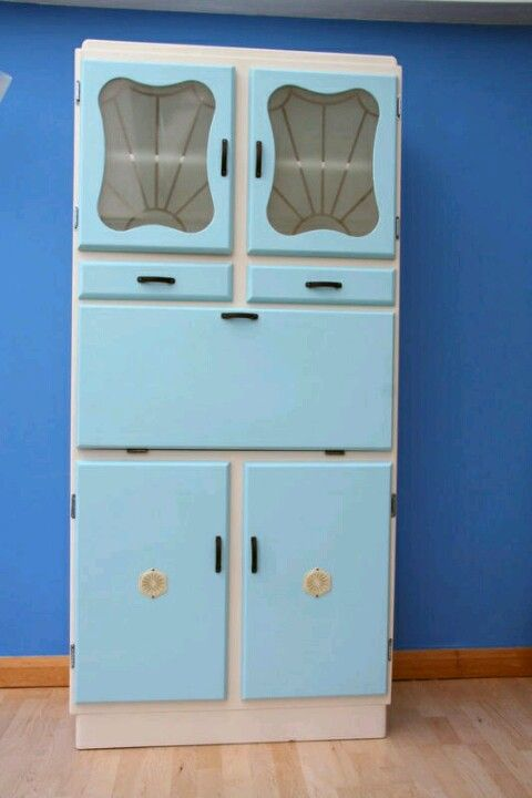 1960s kitchen dresser. I really really want one of these for out .
