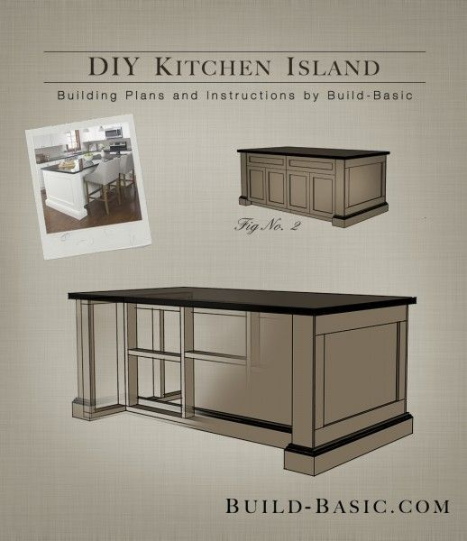 EASY BUILDING PLANS! Build a DIY Kitchen Island with FREE Building .