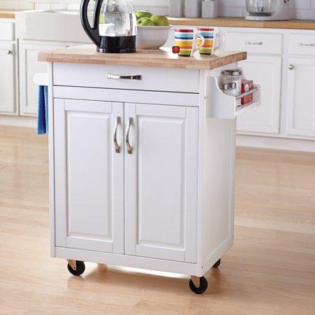 Mainstays Kitchen Island Cart, White - Walmart.com - Walmart.c