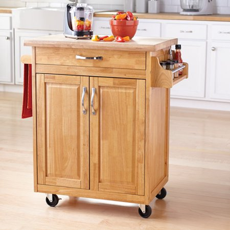 Mainstays Kitchen Island Cart, Multiple Finishes - Walmart.com .