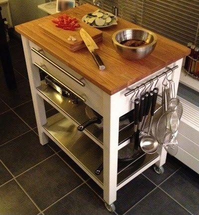 Stenstorp Kitchen Trolley Deluxe | Ikea hack kitchen, Kitchen .