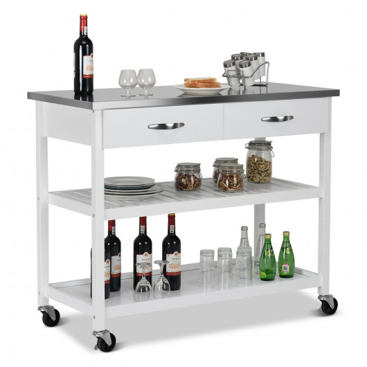 Kitchen Trolley Cart Rolling Island Cart Serving Cart Large .