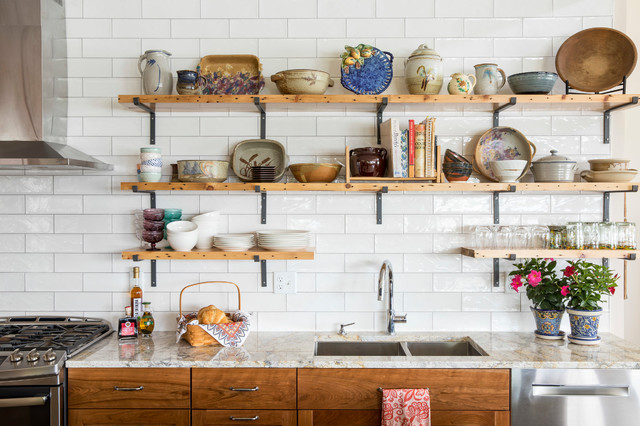 The Best Things to Store on Open Kitchen Shelv