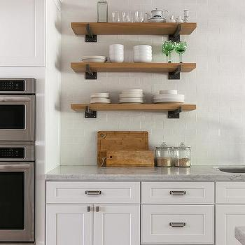 Iron And Wood Rustic Kitchen Shelves Design Ide