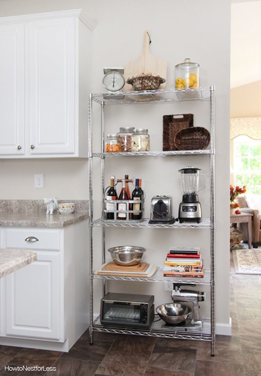 Kitchen Industrial Shelving | Small apartment kitchen, Rental .