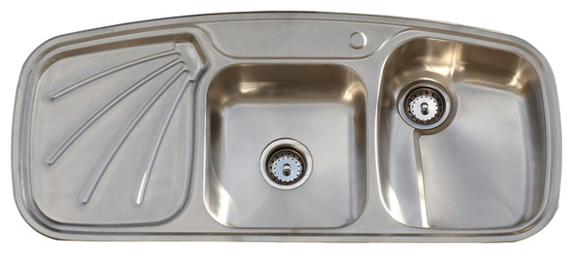 Vintage Style 304 Stainless Steel Farm Sink Drainboard Double .