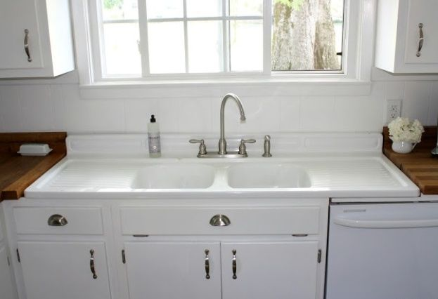 double sink... drain board? | Farmhouse sink kitchen, Best kitchen .