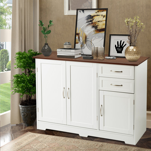 Storage Cabinet Kitchen Buffet Unit Dining Room Furniture with 3 .