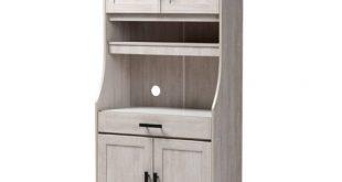 6 Shelf Portia Kitchen Storage Cabinet White - Baxton Studio : Targ
