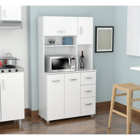 Inval Modern Laricina-white Kitchen Storage Cabinet – BrickSe