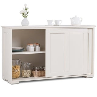 Shop Costway Kitchen Storage Cabinet Sideboard Buffet Cupboard .