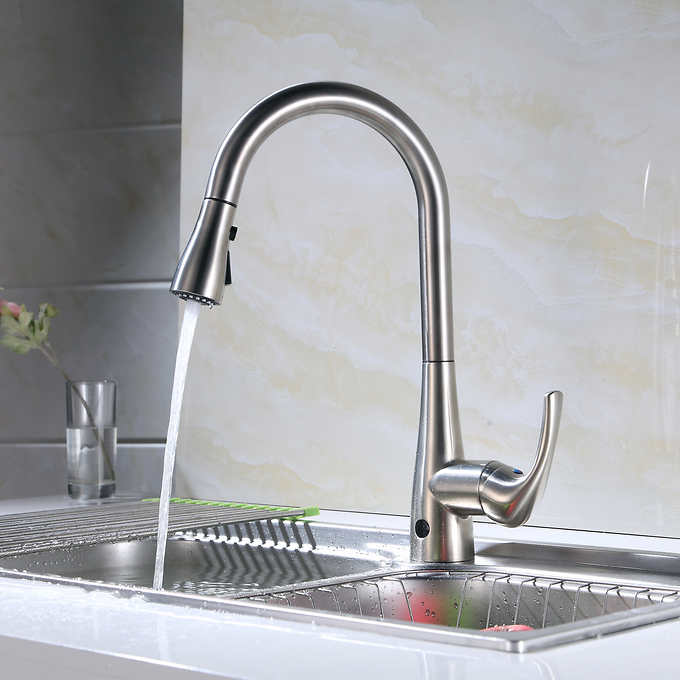Flow Motion Activated Pull-Down Kitchen Fauc