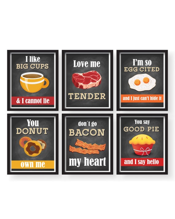 Funny Kitchen Wall Art Kitchen Wall decor Funny Dining room | Et