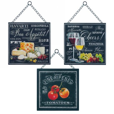 Wall Art Wall Decor, Metal Kitchen Decorations For Wall Decor, Set .