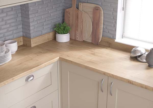 Natural Arlington Oak #kitchen worktop for light & airy decors .